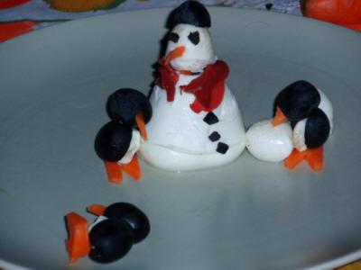 Pupazzo di neve e pinguini antipasto ricetta pupazzo di - Pinguini di natale immagini ...